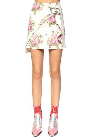 PACO RABANNE | Mujer Mini Falda Envolvente De Algodón Estampado /multi 34