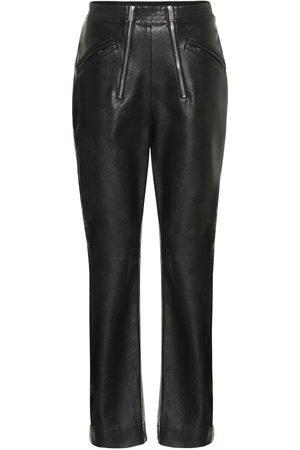 Stella McCartney Pantalones de piel sintética