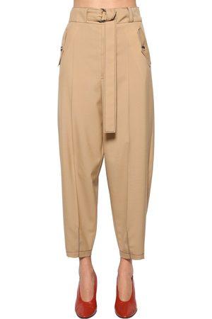 Marni | Mujer Pantalones Cargo De Gabardina De Lana 38
