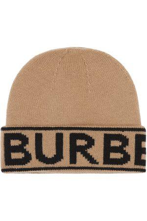 Burberry Gorro con logo de intarsia