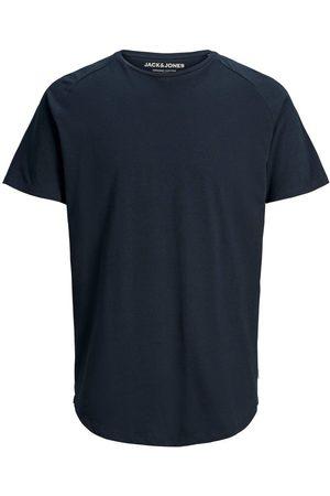 Jack & Jones Organic Cotton Curved Hem T-shirt Men Blue
