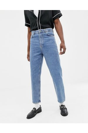 ASOS Vaqueros de talle alto en azul lavado medio vintage de