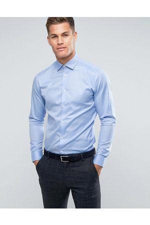 Selected Camisa de vestir de corte slim fácil de planchar en azul claro de