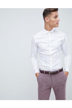 Jack & Jones Camisa blanca de vestir de corte slim elástico Premium de -Blanco