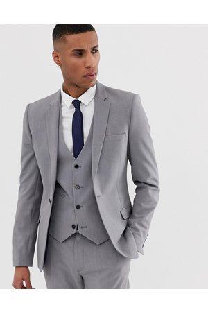 ASOS Chaqueta de traje súper ajustada en gris medio de