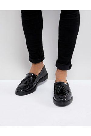 ASOS Hombre Calzado formal - Mocasines de cuero negro con borlas de