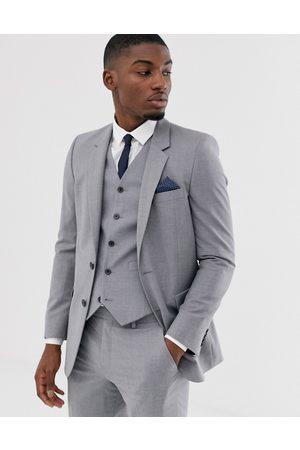ASOS Chaqueta de traje de corte slim en gris medio de
