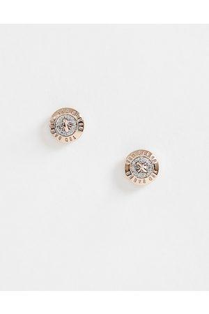 Ted Baker Pendientes de botón pequeños con purpurina de -Dorado