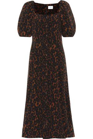 Erdem Vestido Mariona de seda estampado