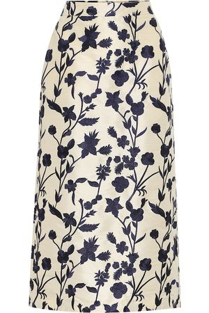BROCK COLLECTION Falda midi Quercini de jacquard