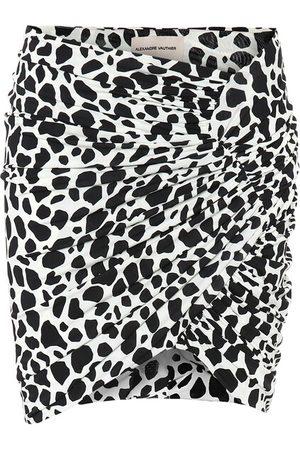 ALEXANDRE VAUTHIER Exclusivo Mytheresa – minifalda de punto elastizado estampada