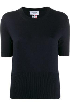 Thom Browne Camiseta RWB de intarsia con cuello redondo