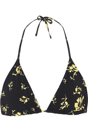 Ganni Top de bikini floral