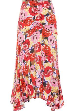 Rebecca Vallance Falda Blume de crepé floral