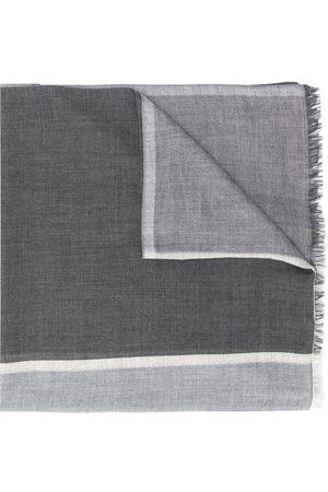 Brunello Cucinelli Fular de punto de diseño colour block