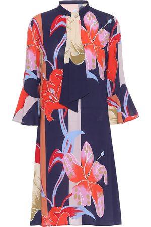 Etro Vestido corto de crepé floral