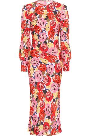 Rebecca Vallance Vestido midi Blume de crepé