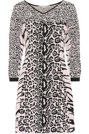 Stella McCartney Vestido con estampado animal