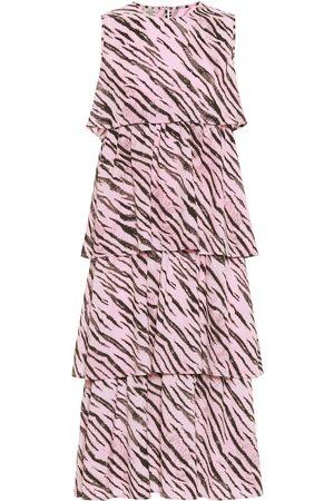 Baum und Pferdgarten Exclusivo en Mytheresa – Vestido midi Aija con print de tigre