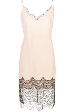 Kiki de Montparnasse Slip dress con ribete de encaje