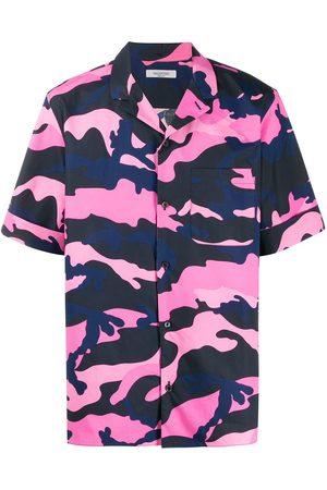 VALENTINO Camisa de manga corta con motivo militar