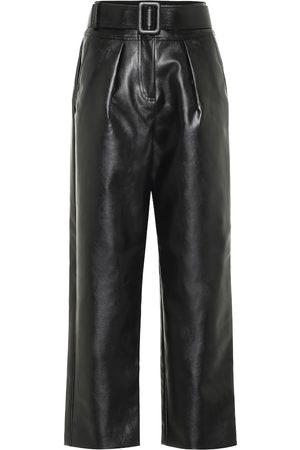 Self-Portrait Pantalones anchos de piel tiro alto