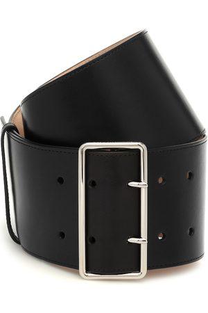 Alexander McQueen Cinturón de piel