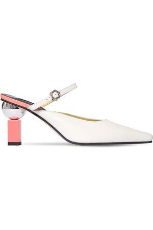 YUUL YIE Zapatos Mules De Piel 70mm