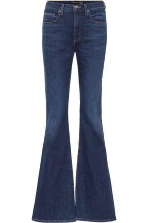 VERONICA BEARD Jeans flared Beverly de tiro alto