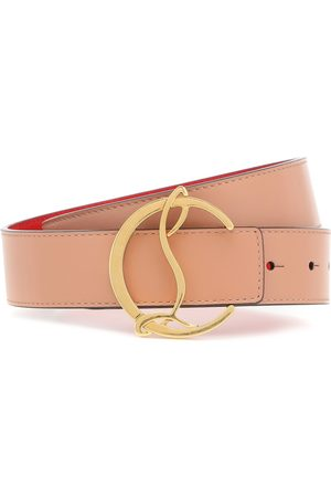 Christian Louboutin Cinturón CL Logo de piel