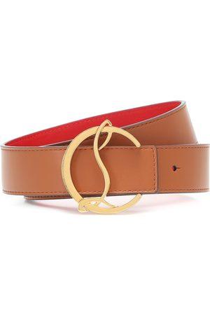 Christian Louboutin Exclusivo en Mytheresa - cinturón CL Logo de piel reversible