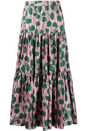 La DoubleJ Moses print flared skirt