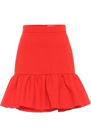 Msgm Minifalda de cady de tiro alto