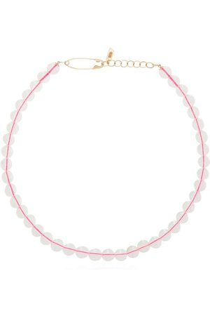LOREN STEWART Mujer Collares - 14K yellow gold pink quartz beaded choker