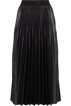 Givenchy Mujer Plisadas - Falda con pliegues con logo en la cinturilla