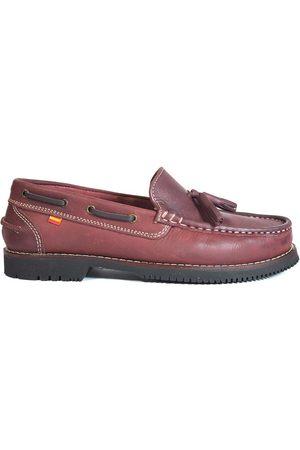 La Valenciana Náuticos Zapatos Apache Montijo Burdeos para mujer