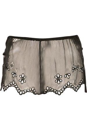 Kiki de Montparnasse Shorts de encaje translúcidos