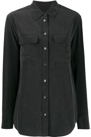 Equipment Camisa de Crepé de China con bolsillos de parche