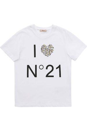 Nº21 Logo Print Cotton Jersey T-shirt