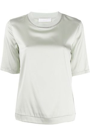 Fabiana Filippi Camiseta con detalle de cuentas
