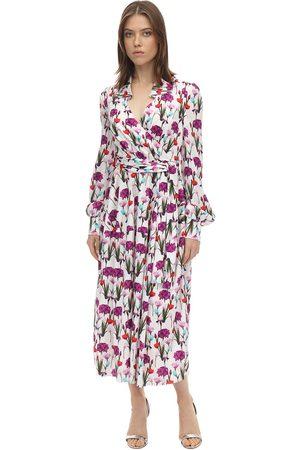 Borgo De Nor | Mujer Vestido Midi De Satén Jacquard /multi 6