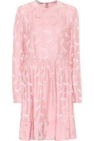 Stella McCartney Vestido de jacquard mezcla de seda