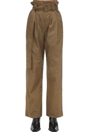Ganni Pantalones Baggy De Nylon