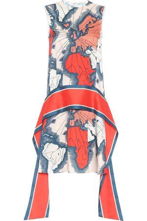 Victoria Victoria Beckham Vestido con estampado de mapas