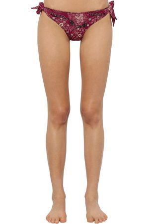 Isabel Marant Braguitas De Bikini De Lycra Con Estampado
