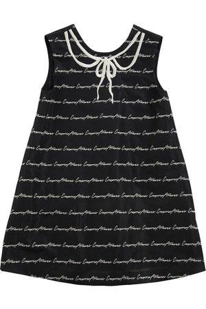 Emporio Armani | Niña Vestido De Viesta De Tafetán Con Logo Jacquard 8a