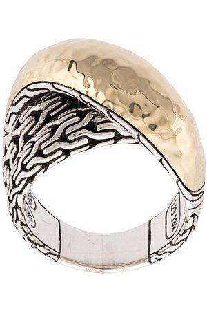 John Hardy Anillo Classic Chain con diseño superpuesto en oro 18kt y plata de ley