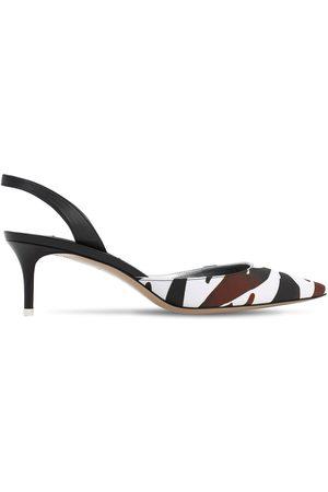 The Attico | Mujer Zapatos Destalonados De Satén Crepé 55mm /café 36