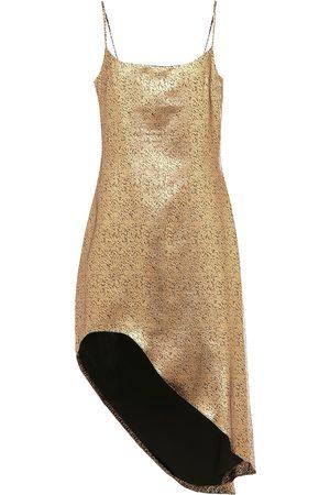 HALPERN Vestido corto asimétrico de lamé