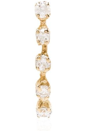 LOREN STEWART 14K yellow curved diamond stud earring